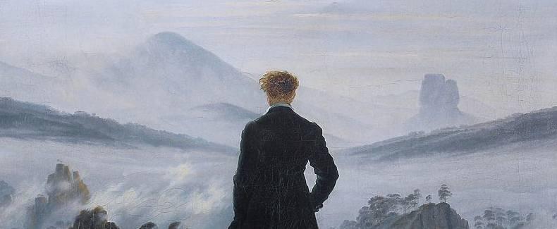 Friedrich - Wanderer (detail)