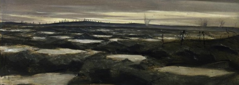 C R Nevinson, 'After a Push' (detail)