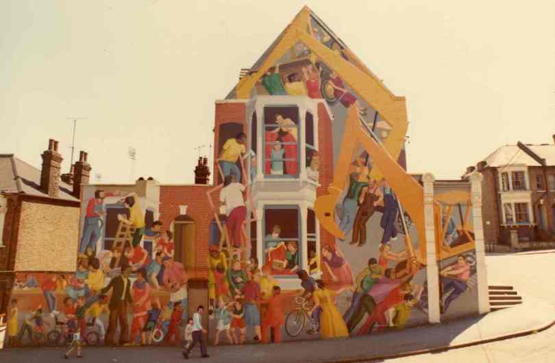 Floyd Road Mural, Steve Lobb and Carol Kenna, 1976