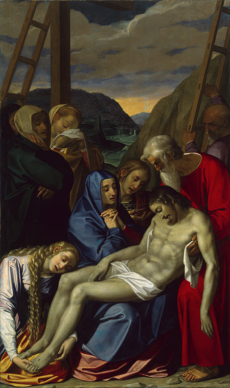 Lamentation (1593) by Scipione Pulzone - a painting that has been seen as part of the artistic Counter-Reformation - an argument in art